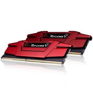 G.Skill F4-2666C15D-16GVR - Barrette mémoire RipJaws 5 Series Rouge 16 Go (2x 8 Go) DDR4 2666 MHz CL15