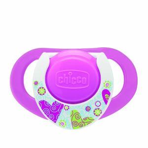 Chicco 2 sucettes Physio Active en silicone avec boîte de protection stérilisable (12 mois +)