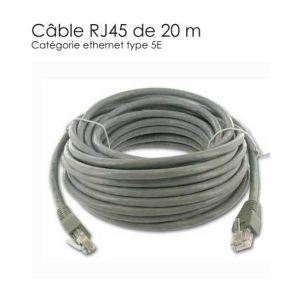 Securitegooddeal Câble réseau RJ45 20m