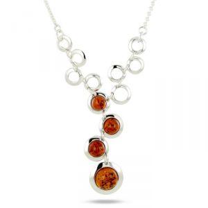 Rêve de diamants COBA01041 - Collier en argent 925/1000 et ambre