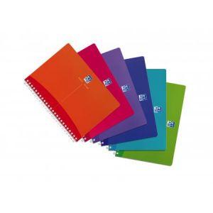 Oxford 100102483 - Carnet My Colours rel. intégrale A5 180 pages 90g/m², petits carreaux