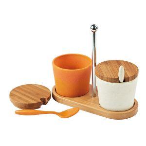 Domoclip MEN82 - Set à sauce en fibre de bambou