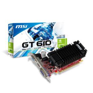 MSI N610-2GD3H/LP - Carte graphique GeForce GT 610 Silent Low Profile 2 Go DDR3 PCI-E 2.0