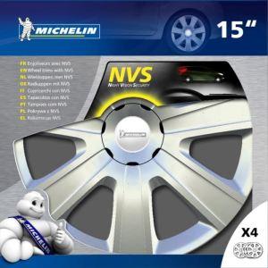 """Michelin NVS 34 - 4 enjoliveurs 15 pouces """"Night Vision Security"""""""