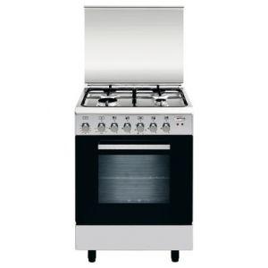 Airlux AA66CVIX - Cuisinière mixte 4 foyers gaz avec four électrique