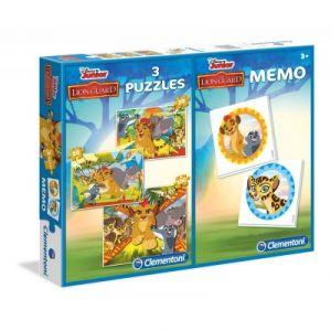 Clementoni 3 puzzles et jeu de mémo Le Roi Lion