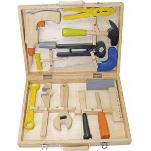 Ulysse Couleurs d'Enfance Boîte à outils 12 éléments en bois