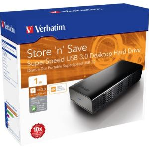 "Verbatim 47670 - Disque dur externe Store 'n' Save 1 To 3.5"" USB 3.0"