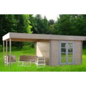 Chalet et Jardin Almandra - Abri de jardin en bois 7,70 m2 avec pergola