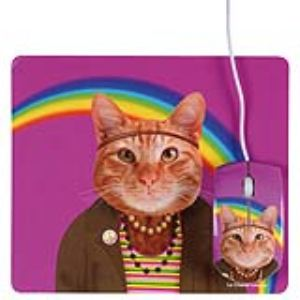 La Chaise Longue Tapis de souris Les Zamis Chat Hippie