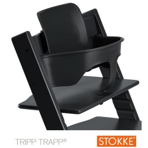 chaise haute tripp trapp noir comparer 4 offres. Black Bedroom Furniture Sets. Home Design Ideas