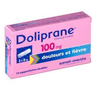 Sanofi Doliprane 100 mg - 10 suppositoires