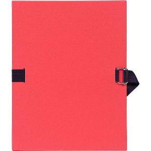 Exacompta Chemise à dos extensible papier toilée avec sangle (24 x 32 cm)