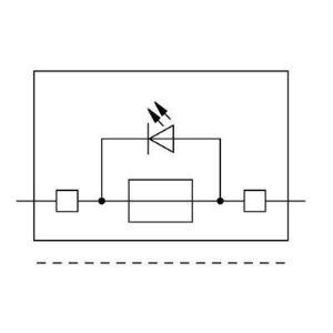 Wago 2002-1811/1000-541 - Borne à fusible pour 4 conducteurs 50 pc(s)