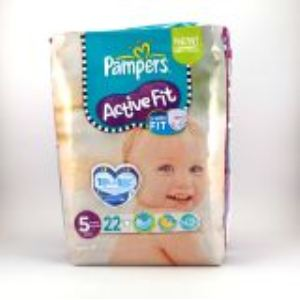 Pampers Active Fit taille 5 Junior (11-25 kg) - 22 couches