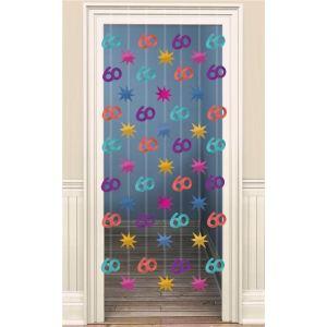 Amscan Décoration rideau de porte Anniversaire 60 ans