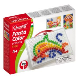 Quercetti Jeu de mosaïques - Fantacolor Portable Large (150 clous)