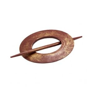 Embrasse grand modèle ovale en bois