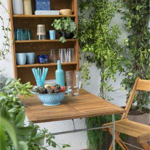 naterial salon pour balcon mural 2 places avec rangement. Black Bedroom Furniture Sets. Home Design Ideas
