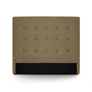 Menzzo Tête de lit capitonnée Luxor en cuir (140 x 122 cm)