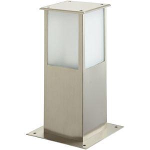 Easy Connect 64210 - Borne lumineuse carrée en inox H 30 cm