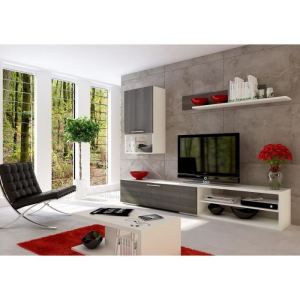 meuble tv laque blanc brillant conforama. Black Bedroom Furniture Sets. Home Design Ideas