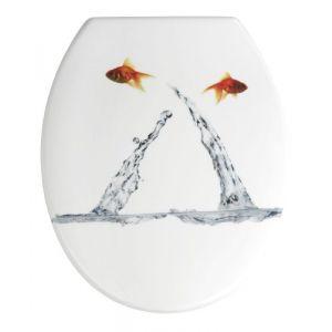 Wenko 19550100 - Abattant poisson sautant Thermodur