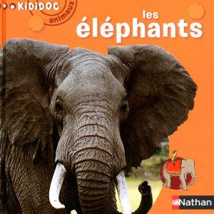 Nathan Livre Kididoc animaux Les éléphants