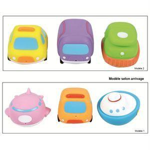 Ludi Jouet de bain : Aspergeurs véhicules : Bateau, avion et bus scolaire