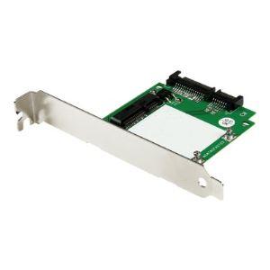 StarTech.com SAT32MSATPEX - Adaptateur SATA vers SSD mSATA avec équerres de plein et demi-hauteur