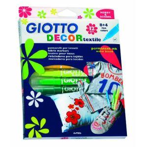 Giotto Decor Textile - Etui de 12 feutres pour tissus