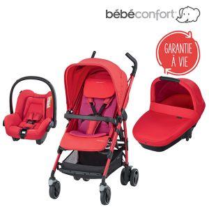 Bébé Confort Dana Amber - Combiné Trio avec poussette, nacelle et siège auto groupe 0+