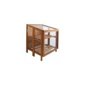 Esschert design Oraison - Serre de jardin d'hiver en bois et verre petit modèle 60 x 60 x 80 cm