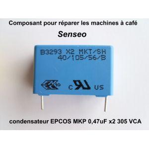 Philips 9375527 - Condensateur à couche 0.47UF pour machine à expresso