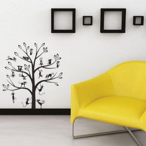 Art Applique by KMG Ws059 - 39 stickers muraux géant Arbre à chats