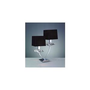 Mantra Lampe de table Akira 2 ampoules en chrome 40 W