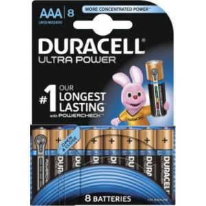 Duracell 8 piles Ultra Power AAA