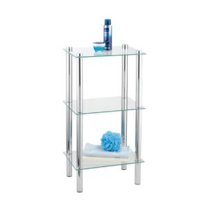 Wenko 15850100 - Etagère d'angle quadrangle 3 étages Yago