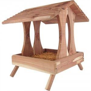 Mangeoire à oiseaux en bois Plateforme