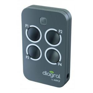 Diagral DIAG44MCX - Télécommande 4 fonctions