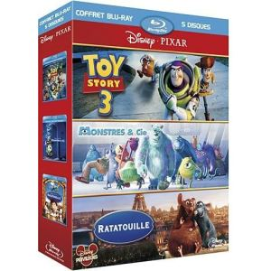 Coffret Toy Story 3 + Monstres & Cie + Ratatouille