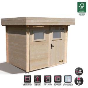 Abri de jardin bois toit plat comparer 84 offres - Abri de jardin bois 4m2 ...