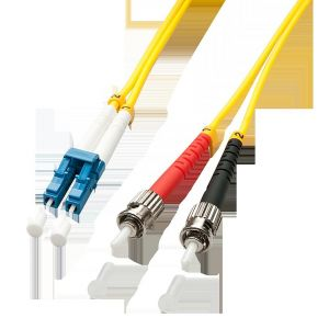 Lindy 47462 - Câble Ethernet Fibre optique Duplex LC/ST OS2 3 m Jaune