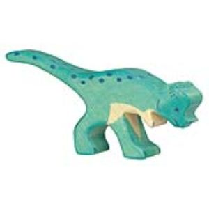 Holztiger Figurine dinosaure : Pachycephalosaurus en bois