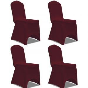 VidaXL Housse de chaise extensible 4 pièces