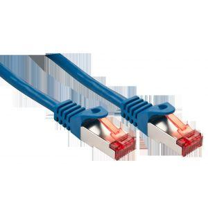 Lindy 47350 - Câble réseau Basic Cat.6 S/FTP bleu 0,3m