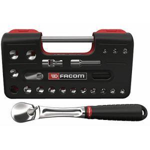 """Facom SL.DBOX1PB - Coffret compact cliquet douille standard 1/2"""" détection box 6 pans"""