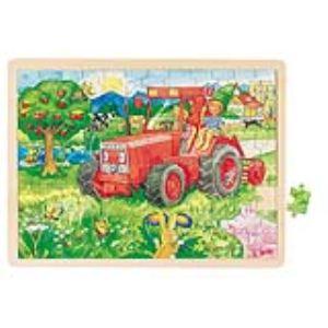 Goki 57655 - Puzzle Tracteur 96 pièces
