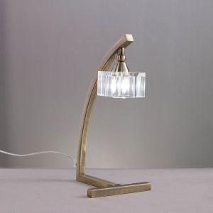 Lampe de table Cuadrax 1 ampoule en laiton