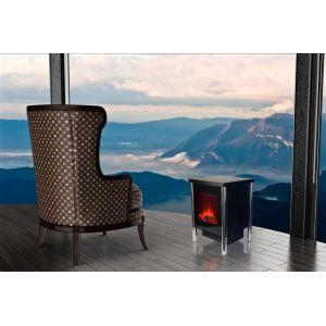 Chemin'Arte Fire Steel - Cheminée électrique décorative en acier et piètement 2000 Watts